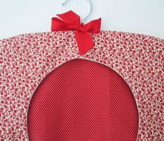 Red Clothes Pin Bag Red Peg Bag Laundry Bag by AwfyBrawJewellery