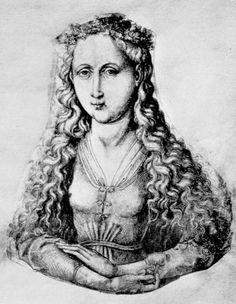 Kopie nach Schongauer-Zeichnung von um 1480 Feder in Schwarz, auf Papier Karlsruhe, Staatliche Kunsthalle, Kupferstichkabinett