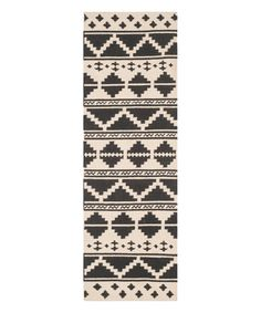 Love this Navy & Ivory Tribal Wool Runner by Safavieh Rugs on #zulily! #zulilyfinds