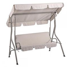 Canopy Swing Glider Hammock Chair Patio Backyard Porch Furniture (Beige) -- Visit the image link more details.
