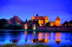 Jaynes Gallery Solid-Faced Canvas Print Wall Art Print entitled Poland, Malbork, Medieval Malbork Castle, None Photography Photos, Travel Photography, Malbork Castle, Wall Art Prints, Canvas Prints, Castle Wall, The Great Outdoors, Gifts In A Mug, Beautiful Places