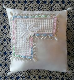 Embellished Ring Bearer Pillow by ColorsofRengin on Etsy