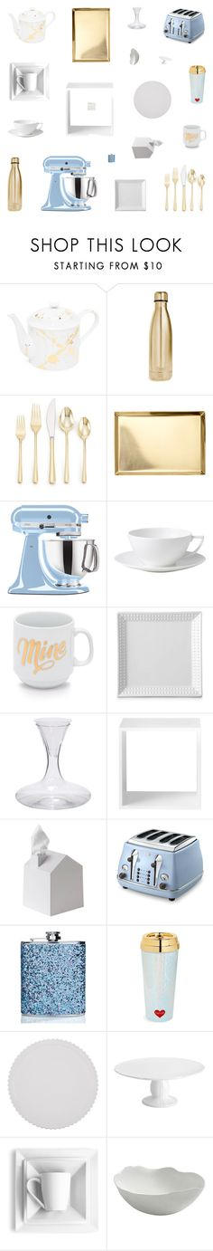 """Kitchen Performance"" by belenloperfido ❤ liked on Polyvore featuring interior, interiors, interior design, home, home decor, interior decorating, Jonathan Adler, S'well, Cambridge and KitchenAid"