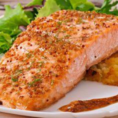 Honey Grilled Salmon Just Like Applebee's Recipe with honey, soy sauce, dark brown sugar, pineapple juice, lemon juice, rice vinegar, olive oil, black pepper, chili powder, paprika, garlic salt, salmon fillets