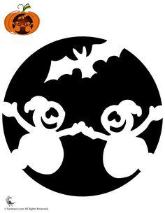 Fantasy Jr. | Ghosts Pumpkin Stencil