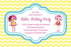 Chevron Lalaloopsy Birthday Party Invitation by PolkaDotDazeParty, $8.00