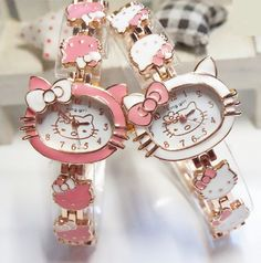 Hello Kitty Watches Fashion Ladies Quart Watch Vintage Kids Cartoon Wristwatches Analog Genç Odası – home accessories Hello Kitty House, Hello Kitty Items, Estilo Hip Hop, Hello Kitty Jewelry, Hello Kitty Collection, Perfume, Cartoon Kids, Vintage Watches, Vintage Children