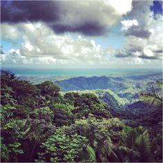 El Yunque rainforest! Beautiful view, beautiful wife!