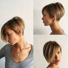 Funny hair styles in concert with short womens haircut side swept bangs thick textured bangs. Perm hair styles into long pixie haircut. Captivating hair trend as of long pixie haircut. Short Thin Hair, Short Hair Cuts, Short Hair Styles, Long Hair, Short Blonde, Bob Short, Short Bobs, Short Inverted Bob, Long Pixie Bob