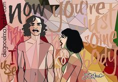 #SomebodyThatIUsedToKnow Gotye feat. Kimbra #Gotye #Kimbra #musicvideo #illustration #drawing #mixedmedia #vector #art #fanart #handdrawn #lyrics #music #colors #DeBacker #Wally #KimbraLeeJohnson #TheBasics #MakingMirrors https://www.facebook.com/diegocelmailustrador/