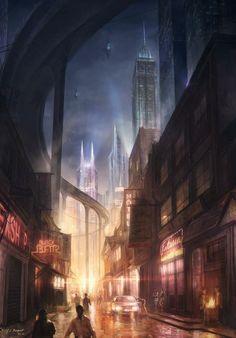 Resultado de imagen para concept art big cities