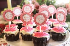 CAKE: cupcakes instead no cutting, flags could match decor