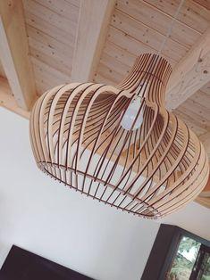 KWUD Modern Scandinavian Style Ceiling Mount Wood Pendant Lighting Lamp Shade with Base Ceiling Decor, Ceiling Lamp, Living Room Lighting, Home Lighting, Scandinavian Style, Scandinavian Pendant Lighting, Bamboo Light, Hanging Lamp Shade, Wood Lamps