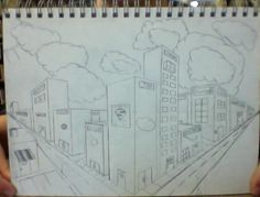 bored and inspired.  3D city drawing