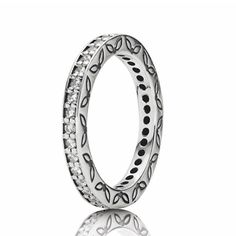#Pandora #Eternity #Ring Pandora Valentines Day 2013 Cute Gift Ideas for her from him. The perfect gift for a wife, fiance, love of your life...  Full Pandora jewelry line available at Silver & Sassy in North East MD. Phone: 410-287-1535