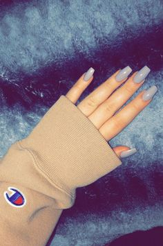 A manicure is a cosmetic elegance therapy for the finger nails and hands. A manicure could deal with just the hands, just the nails, or Aycrlic Nails, Gray Nails, Matte Nails, Fun Nails, Hair And Nails, Almond Acrylic Nails, Cute Acrylic Nails, Sparkle Acrylic Nails, Acrylic Nail Shapes