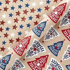 Buy Vivid Chamonix Trees & Stars Christmas Gift Wrap Online at johnlewis.com