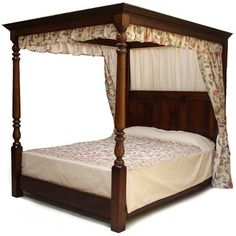 Poster Bed Canopy four-poster king size bed from bombay company. beautiful. i wish