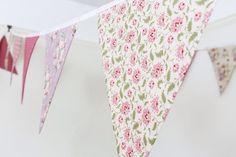 HIRE Dusky pink bunting vintage rose fabric flags floral | Etsy Pink Bunting, Floral Wedding Decorations, Party Garland, Boys Bedroom Decor, Geek Gifts, Vintage Roses, Floral Tie, Geek Stuff, Handmade Items