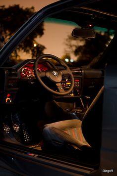 Happiness by the Kilowatt — pluscraig: The Cockpit of an E30 M3.