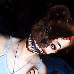 Teddy Horror Makeup Tutorial: https://youtu.be/aGBineWq2rw Cool sfx makeup to do for Halloween. By Galaxi
