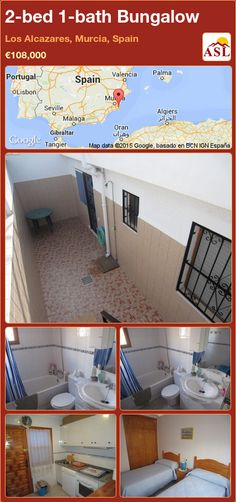 Bungalow for Sale in Los Alcazares, Murcia, Spain with 2 bedrooms, 1 bathroom - A Spanish Life Murcia Spain, Bungalows For Sale, Storage Room, Ground Floor, Lounge, Flooring, Bathroom, Bed, Furniture