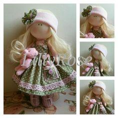 Rag dolls Handmade doll Fabric doll Tilda doll Rag doll Cloth Doll Gift for girls Blond hair Sale