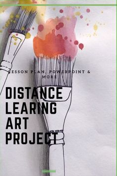 Distance Learning Art Project for Elementary School - art projects for students Kindergarten Art Projects, School Art Projects, Middle School Art, Art School, Art Classroom, Google Classroom, Art Lessons, Art Education Lessons, Online Lessons