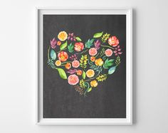 floral heart printable