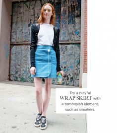 The Best Denim Skirts For Every Shape & Style via @WhoWhatWear
