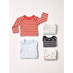 From striped tops to sleepsuits in different colours we have all your newborn baby essential needs.