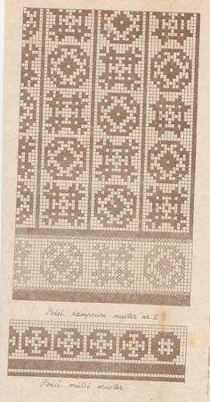 Knitting Charts, Knitting Stitches, Knitting Designs, Knitting Patterns, Fair Isle Chart, Fair Isle Pattern, Crochet Chart, Filet Crochet, Mittens Pattern