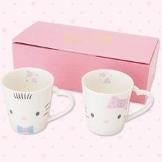 dear daniel & hello kitty wedding series mugs
