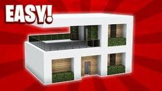 Minecraft: How To Build A Small Modern House Tutorial ( - Minecraft Servers Web - MSW - Channel Minecraft House Tutorials, Minecraft Plans, Minecraft Room, Minecraft House Designs, Minecraft Tutorial, Minecraft Creations, Minecraft Crafts, Minecraft Furniture, Minecraft How To Build