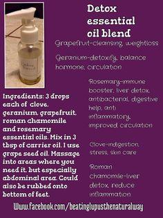 Detox essential oil blend