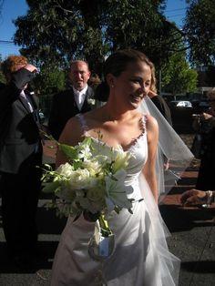 Lovely arrangement for a divine bride. Contact: floralology@yahoo.com.au
