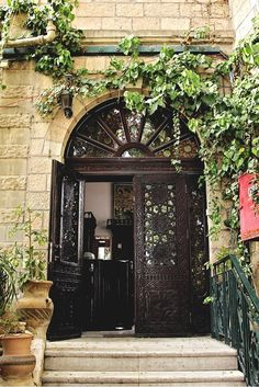 The Jerusalem Hotel Entrance Door by thecoloursoflife on Etsy, $34.00
