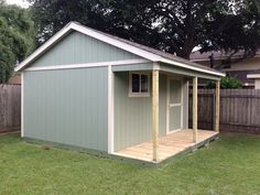 Ok, this wasn't DIY but this is my new shed.  12'x16' with a 4' porch by Tuff Shed.
