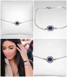 Evil Eye Bracelet  - Sterling Silver, Celebrity Inspired