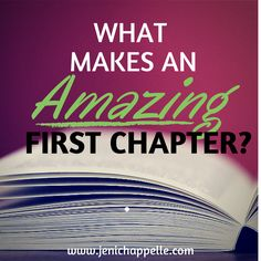 #IAmWriting | What Makes an Amazing First Chapter?The first chapter is like a miniature model of the whole book. When I read those ever-important first ten pages, here's what I look for.