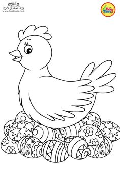 Free Easter Coloring Pages - Uskrs bojanke za djecu - Free printables, Easter bunny, eggs, chicks and more on BonTon TV - Coloring books Spring Coloring Pages, Easter Coloring Pages, Cute Coloring Pages, Animal Coloring Pages, Coloring Pages For Kids, Coloring Books, Easter Art, Easter Crafts For Kids, Easter Bunny Colouring