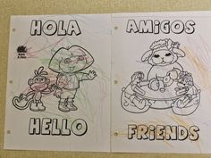 The Stuff We Do for Spanish ~ A couple pages from our Spanish Folders we work on all year and send home at the end of the school year. (Rainy Day Projects that turn out Productive!)