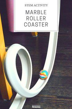 Build Marble Roller Coaster - Gravity #Science #STEM #KidsLearningActivities