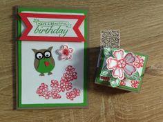 Stampin´UP! jennys_Stempelwelt Karte und Mini Ritter Sport Verpackung mit dem Set Birthday Blossoms und den neuen In Colours 2015-2017