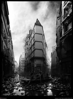 Rue de Seine by Viktor Fretyán Hi, Here is an image I have been working on for quite some time now. I think it's finished now. My plan was to make more images of different streets and places of the same city all in the same taste like this but with completely different scenes, different stories. I don't know when will I have the time or the energy to start doing something like this again…But I do plan to go on with this and make a series.