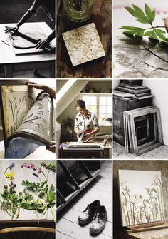 artist Rachel Dein her plaster-cast tiles