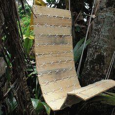 Schommel hangstoel van een pallet