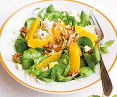Pomerančový salát s ořechy | Recepty Albert Cobb Salad, Food And Drink, Cooking, Recipes, Per Diem, Cuisine, Kochen, Rezepte, Recipies