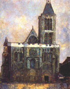 cavetocanvas:    Maurice Utrillo, Basilica of St. Denis, n.d.