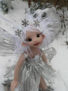 Holiday Fairy - Silver Snowflake Fae